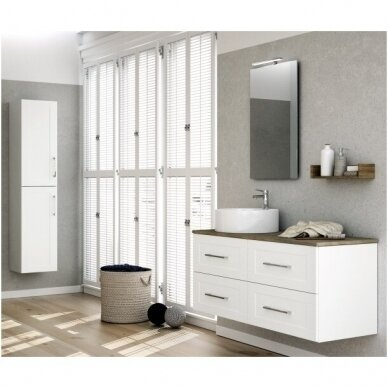Trijų dalių baldų komplektas su veidrodžiu ir šviestuvu Kamė Adagio 120