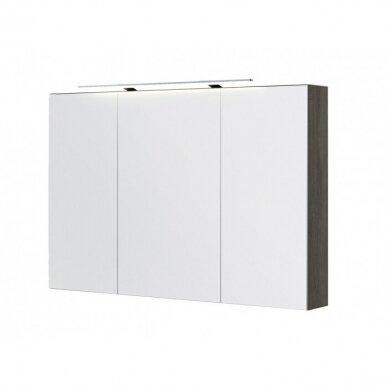 Trijų dalių baldų komplektas su veidrodine spintele ir šviestuvu Kamė Adagio 120 7