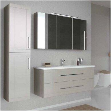 Trijų dalių baldų komplektas su veidrodine spintele ir šviestuvu Kamė Adagio 120 2