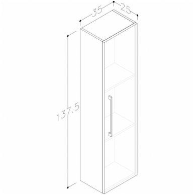 Raguvos baldai trijų dalių komplektas su veidrodine spintele ir apšvietimu Scandic 100 6