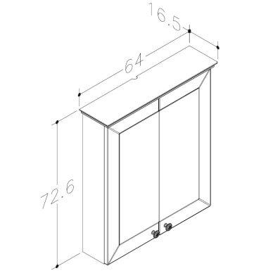 Raguvos Baldai Siesta veidrodinė spintelė 640x726 mm 2