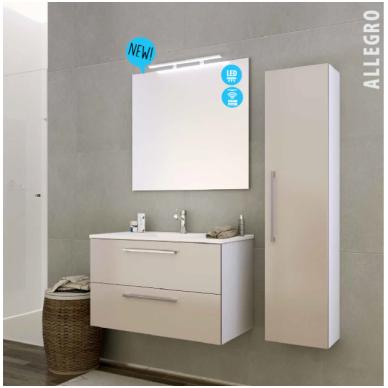 Raguvos baldai trijų dalių komplektas su veidrodžiu ir šviestuvu Allegro 90 2