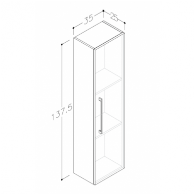 Raguvos baldai trijų dalių komplektas su veidrodžiu ir šviestuvu Allegro 90 8