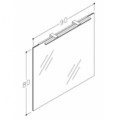 Raguvos baldai trijų dalių komplektas su veidrodžiu ir šviestuvu Allegro 90 7