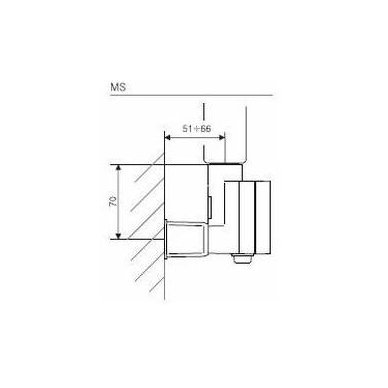 Chromuotas Elektrinis Rankšluoščių džiovintuvas Karnak su reguliuojamu kaitinimo elementu 9