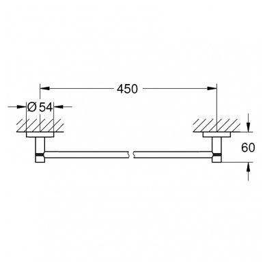 Rankšluosčių kabykla Grohe Essentials 450 mm 2