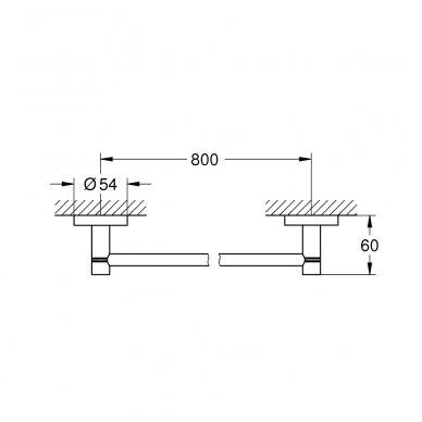 Rankšluosčių kabykla Grohe Essentials 800 mm 2
