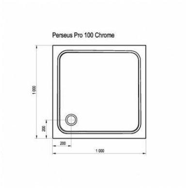 Ravak kvadratinis dušo padėklas Perseus Pro Chrome 1000x1000 2