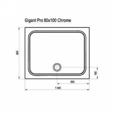 Ravak stačiakampis dušo padėklas Gigant Pro Chrome 1000x800 2