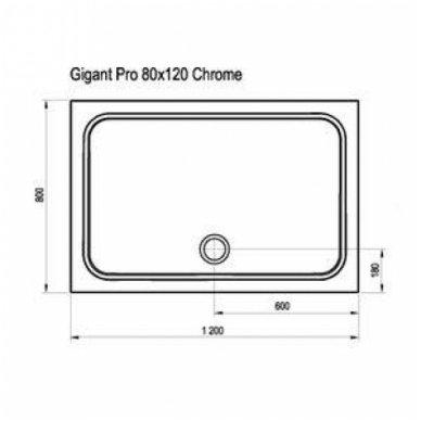 Ravak stačiakampis dušo padėklas Gigant Pro Chrome 1200x800 3