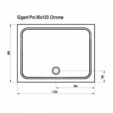 Ravak stačiakampis dušo padėklas Gigant Pro Chrome 1200x900 2