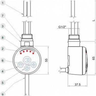 Reguliuojamas elektrinis tenas MEG 5