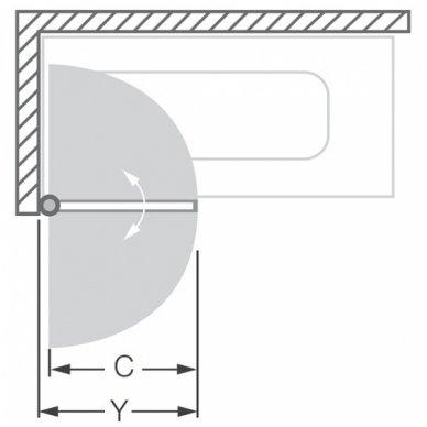 Roltechnik vonios sienelė Swing 2