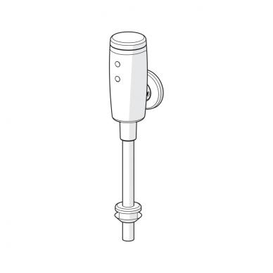 Sensorinis čiaupas pisuarui Oras su maitinimu 6V baterija 3