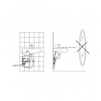 Sensorinis maišytuvas praustuvui Oras 230 V 5