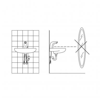 Sensorinis maišytuvas praustuvui Oras Electra 6150F 5