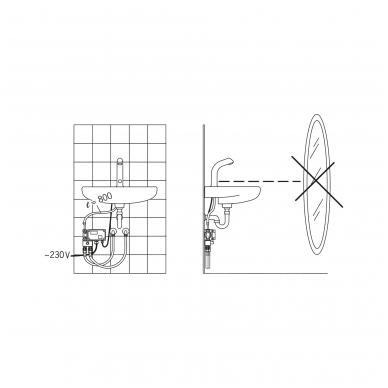 Sensorinis maišytuvas praustuvui Oras su stacionariu 230V maitinimu 5