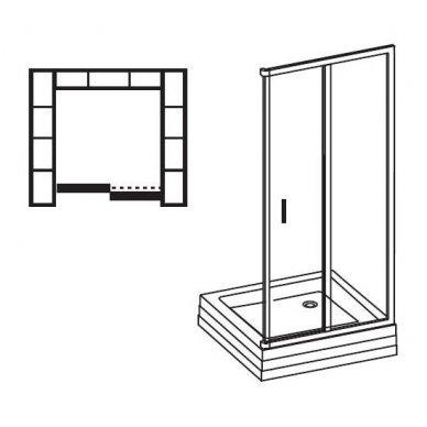 Slankiojančios dušo durys Ravak Blix BLDP2 4