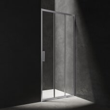 Stumdomos 3 dalių dušo durys Omnires Chelsea 80 cm