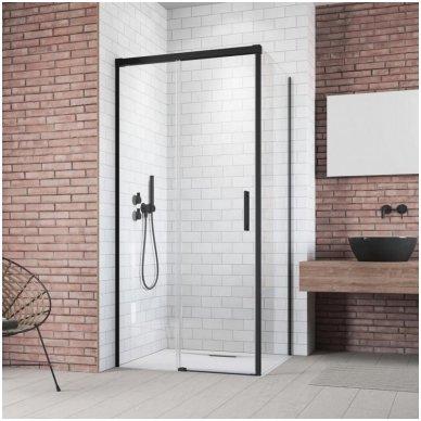 Keturkampė dušo kabina Radaway Idea Black KDJ