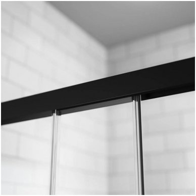 Keturkampė dušo kabina Radaway Idea Black KDJ 4