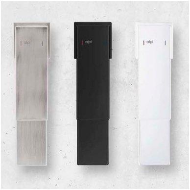 Stacionari dušo galva Alpi Una18 (balta/juoda/nikelis) 4