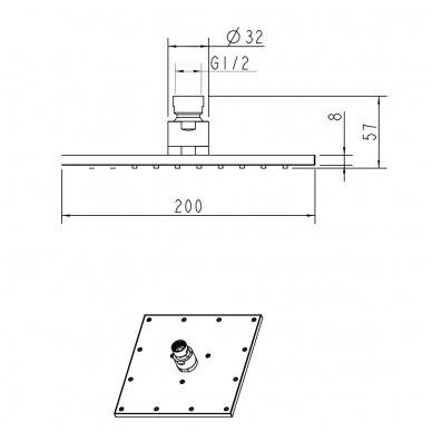 Stacionari dušo galva Omnires WG220 2