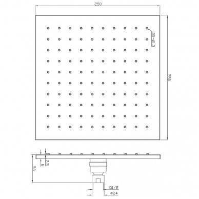 Stacionari dušo galva Omnires WG225 2