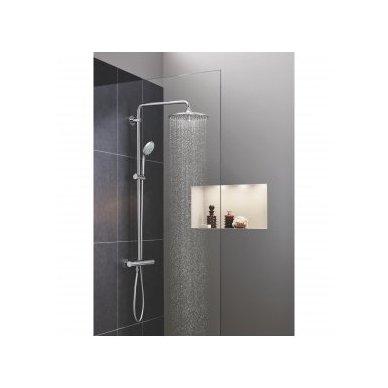 Stacionari dušo sistema Grohe Euphoria 260 su termostatiniu maišytuvu ir lietaus zonų reguliavimu
