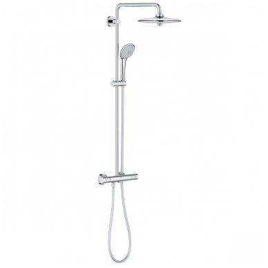 Stacionari dušo sistema Grohe Euphoria 260 su termostatiniu maišytuvu ir lietaus zonų reguliavimu 4