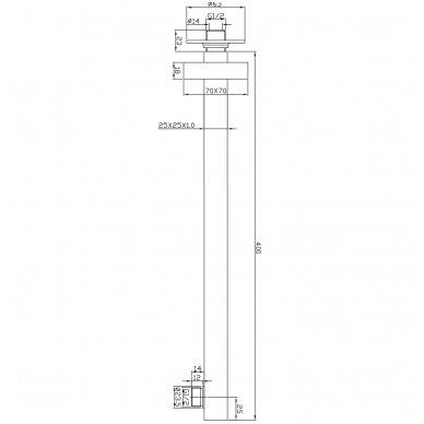 Stacionarios dušo galvos laikiklis Omnires RA14 X 2