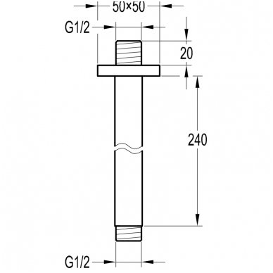 Stacionarios dušo galvos laikiklis Omnires RS31 2