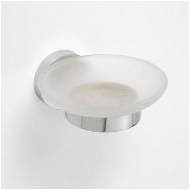 Stiklinė muilinė pakabinama ovali Bemeta Omega
