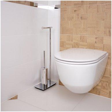 Stovas su tualetiniu šepečiu ir tualetinio popieriaus laikikliu Omnires Uni UN10810 2