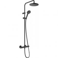 Termostatinė dušo sistema Hansgrohe 200, juoda matinė