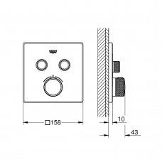 Termostatinis maišytuvas dušui ir voniai Grohe GROHTHERM SMARTCONTROL