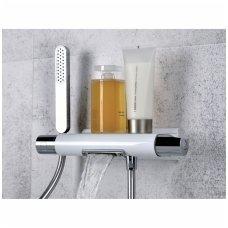 Termostatinis maišytuvas voniai su krioklio srovės tipu ir dušo galvute Alpi Zago ZA69100CR