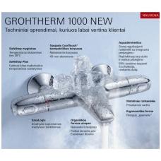 Termostatinis vonios maišytuvas Grohe Grohtherm 1000 New