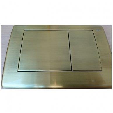 Tece TECEplanus bronzinės spalvos vandens nuleidimo mygtukas