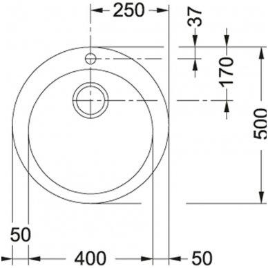 Tectonite plautuvė Franke Single 1 3