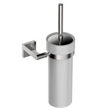 Tyber pakabinamas tualeto šepetys su metaliniu indu, chromuotas