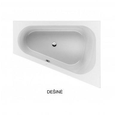 Asimetrinė akrilinė vonia Villeroy & Boch Loop &Friends Oval 175x135