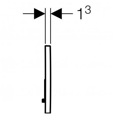 Vandens nuleidimo mygtukas Geberit Sigma 01 5