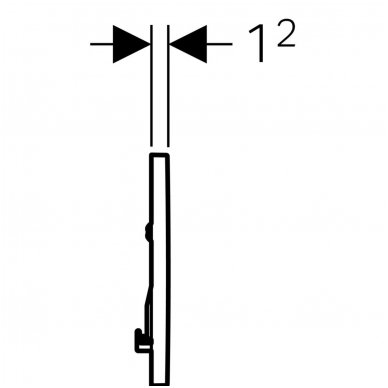 Viengubas vandens nuleidimo mygtukas Geberit Sigma 30 4