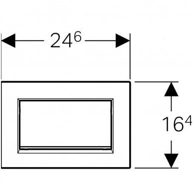 Viengubas vandens nuleidimo mygtukas Geberit Sigma 30 3