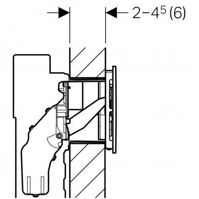 Vandens nuleidimo mygtukas Geberit Sigma 40 7