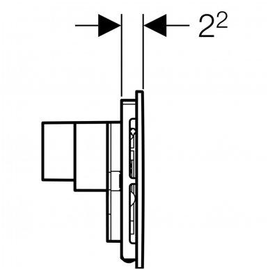 Vandens nuleidimo mygtukas Geberit Sigma 40 5
