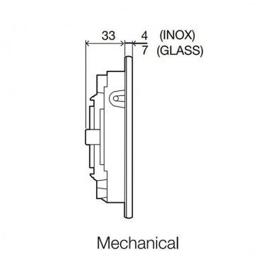 Vandens nuleidimo mygtukas OLI OKEANIA, mechaninis arba pneumatinis (spalvu pasirinkimas) 13