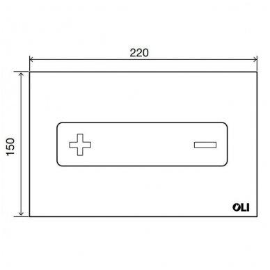 Vandens nuleidimo mygtukas OLI OKEANIA, mechaninis arba pneumatinis (spalvu pasirinkimas) 12