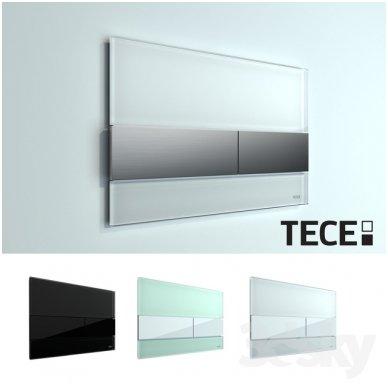 Vandens nuleidimo plokštelė Tece square glass 3